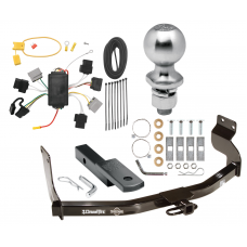 """Trailer Tow Hitch For 05-07 Ford Escape 05-06 Mazda Tribute Complete Package w/ Wiring Draw Bar Kit and 2"""" Ball"""