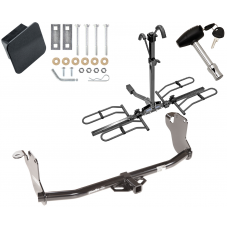 Trailer Tow Hitch For 11-19 Mitsubishi Outlander Sport 11-14 RVR Platform Style 2 Bike Rack Hitch Lock and Cover