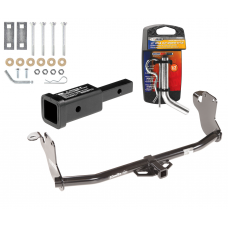 """Trailer Tow Hitch For 11-19 Mitsubishi Outlander Sport 11-14 RVR w/ 2"""" Adapter and Pin/Clip"""