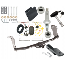 """Trailer Tow Hitch For 11-19 Mitsubishi Outlander Sport 11-14 RVR Ultimate Package w/ Wiring Draw Bar Kit Interchange 2"""" 1-7/8"""" Ball Lock and Cover"""