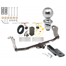 """Trailer Tow Hitch For 11-19 Mitsubishi Outlander Sport 11-14 RVR Complete Package w/ Wiring Draw Bar Kit and 2"""" Ball"""