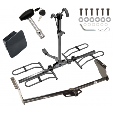 Trailer Tow Hitch For 04-19 Toyota Sienna Class 2 Platform Style 2 Bike Rack Hitch Lock and Cover