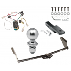 "Trailer Tow Hitch For 04-10 Toyota Sienna Complete Package w/ Wiring Draw Bar Kit and 2"" Ball"