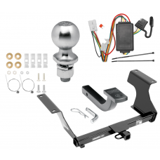 "Trailer Tow Hitch For 09-13 Subaru Forester Class 2 09-13 Subaru Forester Class 2 Complete Package w/ Wiring Draw Bar Kit and 2"" Ball"