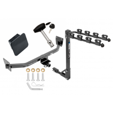 Trailer Tow Hitch w/ 4 Bike Rack For 14-17 KIA Rondo Canada Only tilt away adult or child arms fold down carrier w/ Lock and Cover