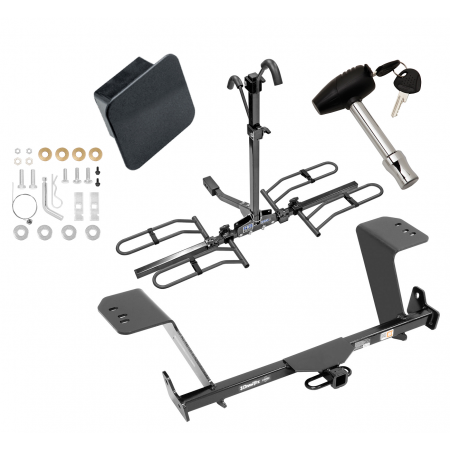 Trailer Tow Hitch For 13-18 Lexus ES350 Except Hybrid Platform Style 2 Bike Rack Hitch Lock and Cover