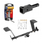 """Trailer Tow Hitch For 13-18 Lexus ES350 Except Hybrid w/ 2"""" Adapter and Pin/Clip"""