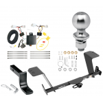 """Trailer Tow Hitch For 13-18 Lexus ES350 Except Hybrid Complete Package w/ Wiring Draw Bar Kit and 2"""" Ball"""