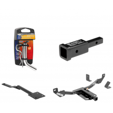 """Trailer Tow Hitch For 10-17 Buick LaCrosse Regal 13-19 Cadillac XTS 14-20 Chevy Impala 13-16 Malibu w/ 2"""" Adapter and Pin/Clip"""