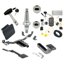 """Trailer Tow Hitch For 10-16 Buick LaCrosse Class 2 Ultimate Package w/ Wiring Draw Bar Kit Interchange 2"""" 1-7/8"""" Ball Lock and Cover"""