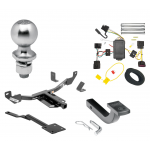 "Trailer Tow Hitch For 10-16 Buick LaCrosse Class 2 Complete Package w/ Wiring Draw Bar Kit and 2"" Ball"