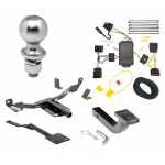 "Trailer Tow Hitch For 11-13 Buick Regal Class 2 Complete Package w/ Wiring Draw Bar Kit and 2"" Ball"