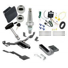 """Trailer Tow Hitch For 13-19 Cadillac XTS Class 2 Ultimate Package w/ Wiring Draw Bar Kit Interchange 2"""" 1-7/8"""" Ball Lock and Cover"""