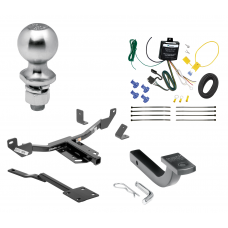 """Trailer Tow Hitch For 13-19 Cadillac XTS Class 2 Complete Package w/ Wiring Draw Bar Kit and 2"""" Ball"""
