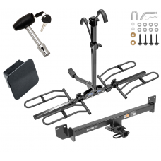 Trailer Tow Hitch For 14-19 Acura RLX Class 2 Platform Style 2 Bike Rack Hitch Lock and Cover