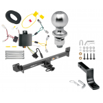 """Trailer Tow Hitch For 14-17 Acura RLX Class 2 Complete Package w/ Wiring Draw Bar Kit and 2"""" Ball"""