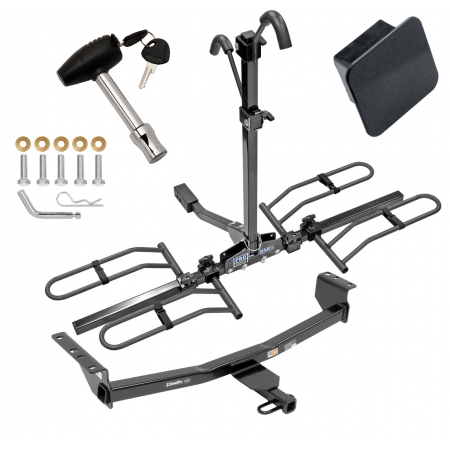 Trailer Tow Hitch For 08-20 Nissan Rogue Class 2 Platform Style 2 Bike Rack Hitch Lock and Cover
