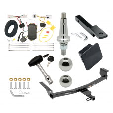 """Trailer Tow Hitch For 08-20 Nissan Rogue Class 2 Ultimate Package w/ Wiring Draw Bar Kit Interchange 2"""" 1-7/8"""" Ball Lock and Cover"""