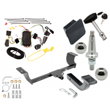 "Trailer Tow Hitch For 05-08 Dodge Magnum Class 2 Ultimate Package w/ Wiring Draw Bar Kit Interchange 2"" 1-7/8"" Ball Lock and Cover"