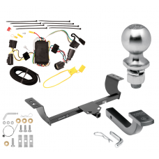 "Trailer Tow Hitch For 05-08 Dodge Magnum Class 2 Complete Package w/ Wiring Draw Bar Kit and 2"" Ball"