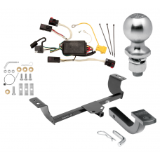 "Trailer Tow Hitch For 08-10 Chrysler 300 Class 2 Complete Package w/ Wiring Draw Bar Kit and 2"" Ball"