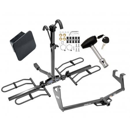 Trailer Tow Hitch For 13-20 Chevy Trax Buick Encore Class 2 Platform Style 2 Bike Rack Hitch Lock and Cover