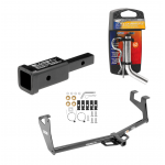 """Trailer Tow Hitch For 13-20 Chevy Trax 13-19 Buick Encore Class 2 w/ 2"""" Adapter and Pin/Clip"""