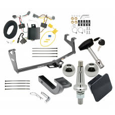 """Trailer Tow Hitch For 13-20 Chevy Trax Class 2 Ultimate Package w/ Wiring Draw Bar Kit Interchange 2"""" 1-7/8"""" Ball Lock and Cover"""