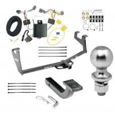 "Trailer Tow Hitch For 13-20 Chevy Trax Class 2 Complete Package w/ Wiring Draw Bar Kit and 2"" Ball"