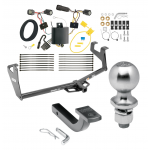 """Trailer Tow Hitch For 17-19 Buick Encore Class 2 Complete Package w/ Wiring Draw Bar Kit and 2"""" Ball"""