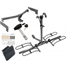 Trailer Tow Hitch For 15-19 Lincoln MKC Class 2 Platform Style 2 Bike Rack Hitch Lock and Cover