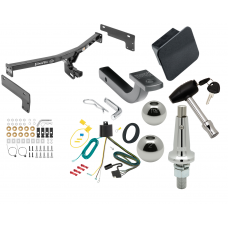 """Trailer Tow Hitch For 15-17 Lincoln MKC Class 2 Ultimate Package w/ Wiring Draw Bar Kit Interchange 2"""" 1-7/8"""" Ball Lock and Cover"""
