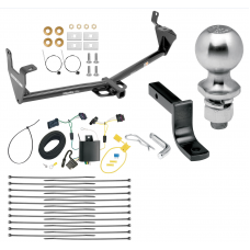 "Trailer Tow Hitch For 15-20 Jeep Renegade Class 2 Complete Package w/ Wiring Draw Bar Kit and 2"" Ball"
