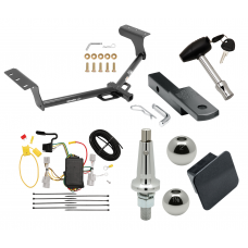 "Trailer Tow Hitch For 06-12 Toyota RAV4 Class 2 Ultimate Package w/ Wiring Draw Bar Kit Interchange 2"" 1-7/8"" Ball Lock and Cover"