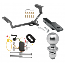 "Trailer Tow Hitch For 06-12 Toyota RAV4 Class 2 Complete Package w/ Wiring Draw Bar Kit and 2"" Ball"