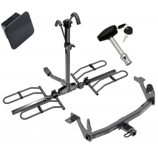 Trailer Tow Hitch For 17-20 Lincoln Continental Class 2 Platform Style 2 Bike Rack Hitch Lock and Cover