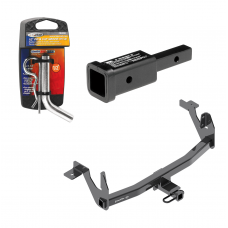 """Trailer Tow Hitch For 17-20 Lincoln Continental Class 2 w/ 2"""" Adapter and Pin/Clip"""