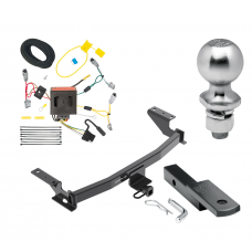 "Trailer Tow Hitch For 13-16 Mazda CX-5 Class 2 Complete Package w/ Wiring Draw Bar Kit and 2"" Ball"
