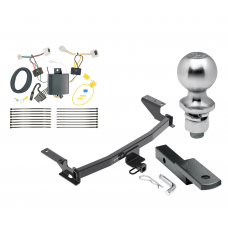 """Trailer Tow Hitch For 17-19 Mazda CX-5 Class 2 Complete Package w/ Wiring Draw Bar Kit and 2"""" Ball"""