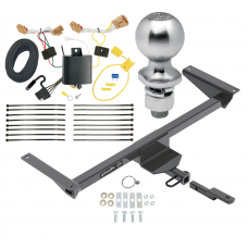 """Trailer Tow Hitch For 18-20 Volkswagen Atlas Complete Package w/ Wiring Draw Bar Kit and 2"""" Ball"""
