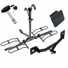 Trailer Tow Hitch For 16-20 Chevy Malibu 17-20 Buick LaCrosse 18-20 Regal Sportback Class 2 Platform Style 2 Bike Rack Hitch Lock and Cover