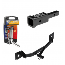"""Trailer Tow Hitch For 16-20 Chevy Malibu 17-20 Buick LaCrosse 18-20 Regal Sportback Class 2 w/ 2"""" Adapter and Pin/Clip"""