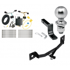 """Trailer Tow Hitch For 17-20 Buick LaCrosse Class 2 Complete Package w/ Wiring Draw Bar Kit and 2"""" Ball"""