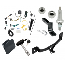 """Trailer Tow Hitch For 18-20 Buick Regal Sportback Class 2 Ultimate Package w/ Wiring Draw Bar Kit Interchange 2"""" 1-7/8"""" Ball Lock and Cover"""
