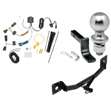 "Trailer Tow Hitch For 18-19 Buick Regal Sportback Class 2 Complete Package w/ Wiring Draw Bar Kit and 2"" Ball"