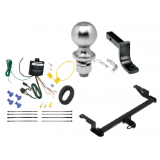 "Trailer Tow Hitch For 18-20 Ford EcoSport Class 2 Complete Package w/ Wiring Draw Bar Kit and 2"" Ball"