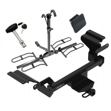 Trailer Tow Hitch For 18-20 Buick Regal TourX Platform Style 2 Bike Rack Hitch Lock and Cover