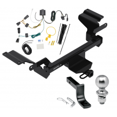 "Trailer Tow Hitch For 18-19 Buick Regal TourX Complete Package w/ Wiring Draw Bar Kit and 2"" Ball"