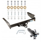 "Reese Trailer Tow Hitch Receiver For 02-07 Jeep Liberty w/Tri-Ball Triple Ball 1-7/8"" 2"" 2-5/16"""