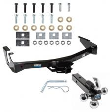 "Reese Trailer Tow Hitch Receiver For 94-03 Dodge Van B Series Ram 1500 2500 3500 w/Tri-Ball Triple Ball 1-7/8"" 2"" 2-5/16"""